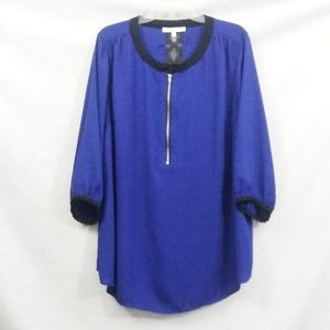 Royal Blue Lace Blouse From Daniel Rainn